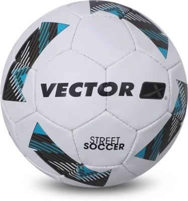 Vector X STREET SOCCER WHT BLU 5 Football   Size: 5 Pack of 1, White, Blue