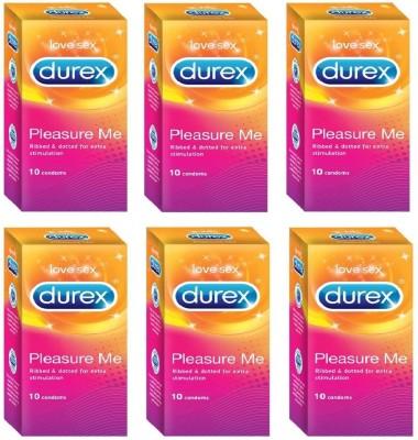 Durex (CONCEALED / CONFIDENTIAL PACKAGING) - Pleasure Me Condom(Set of 6, 60S)