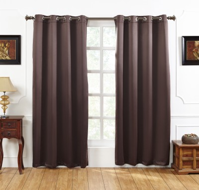Homewards Polyester Door Curtain 210 cm (7 ft) Pack of 2(Plain Cocoa Bean)  available at flipkart for Rs.1300