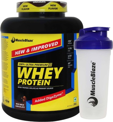 MuscleBlaze 100% Ultra Premium (with Free Shaker) Whey Protein(2 kg, Rich Milk Chocolate)