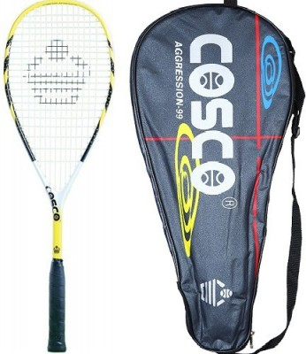 Cosco Aggression 99 Yellow Strung Squash Racquet Pack of: 1, 200 g