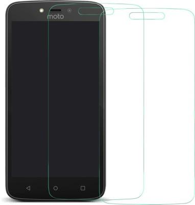MTT Tempered Glass Guard for Motorola Moto C Plus(Pack of 2)