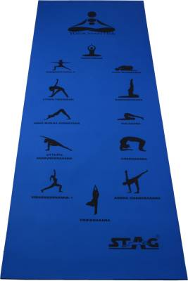 Stag Yoga Mantra ASANA Blue 6 mm Yoga, Gymnastic, Exercise & Gym Mat