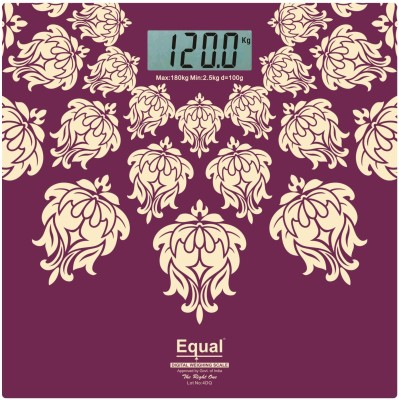 Equal Digital Designer print, capacity 180 kg Weighing Scale(Purple)