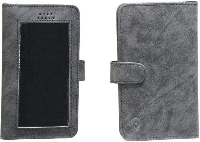 J Pouch for LG L70 Dual D325(Dark Grey, Artificial Leather)