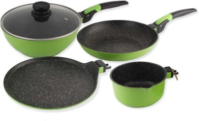 Wonderchef Click Amaze Induction Bottom Cookware Set(Aluminium, 4 - Piece)  available at flipkart for Rs.3449