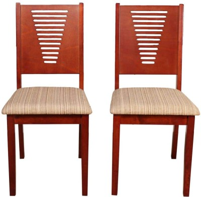 Induscraft Tadashi Solid Wood Dining Chair(Set of 2, Finish Color - Brown)