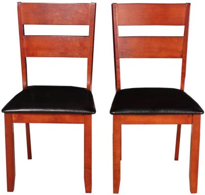 Woodness Solid Wood Dining Chair(Set of 2, Finish Color - Mahogany)