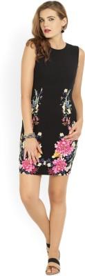 Van Heusen Women Sheath Black, Pink Dress