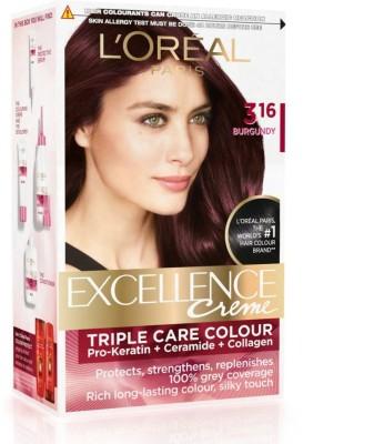 Loreal Paris Excellence Creme Hair Color- 316 Burgundy