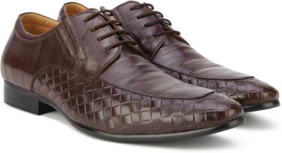 Pavers England Genuine Leather Lace Up(Brown) at flipkart