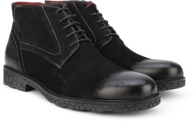 Pavers England Genuine Leather Boots(Black) at flipkart