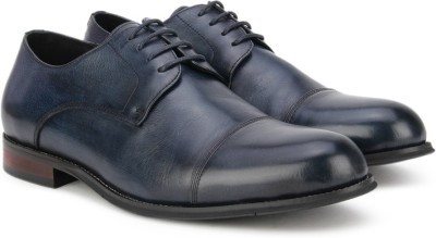 Pavers England Genuine Leather Lace Up(Blue) at flipkart