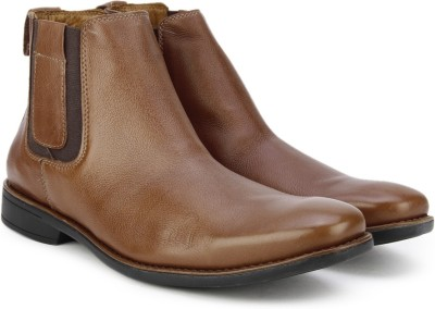 Pavers England Genuine Leather Boots(Brown) at flipkart