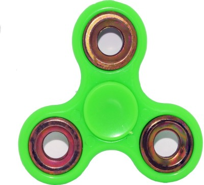 Toyzstation Fidget Hand Spinner Ultra Speed With Golden Rings(Green)