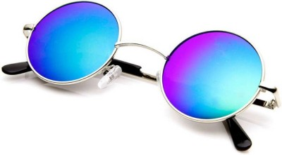 Poloport Round Sunglasses(Blue)