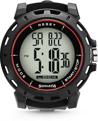 SONATA 77037PP07J SF Sonata Touch Screen Digital Watch   For Men SONATA Wrist Watches