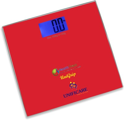 Health Track Unigrip Digital Smart Weighing Scale(Red)