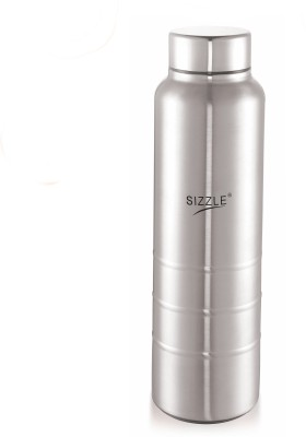 Sizzle New Design Unbreakable 1 pc 1000 ml Bottle Pack of 1, Silver, Steel Sizzle Water Bottles