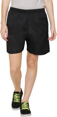Rzlecort Striped Women Red, Black Sports Shorts Rzlecort Women's Shorts