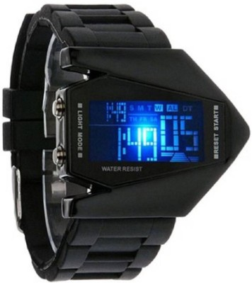 Maan International Black Rocket Dial Fast Selling Kids Led Watch  - For Boys   Watches  (Maan International)
