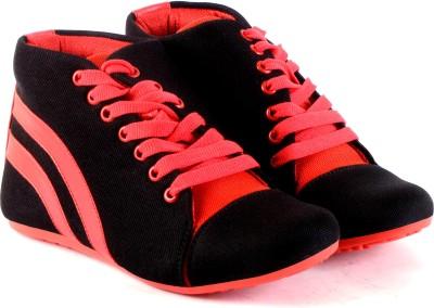 Sam Stefy Canvas Shoes For Women(Black)