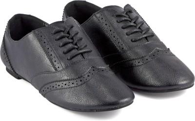 DeVEE Perkins Black Oxford Brogue Corporate Casuals For Women(Black)