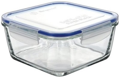 Borgonovo Food Container  - 380 ml Plastic, Glass Grocery Container(Blue, Clear)  available at flipkart for Rs.315