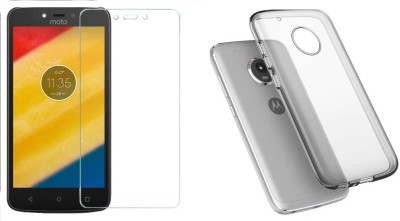 Prydz Screen Protector Accessory Combo for Moto C Plus Transparent