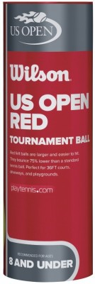 Wilson US Open Tournament Tennis Ball -   Size: Standard(Pack of 3, Yellow)  available at flipkart for Rs.319