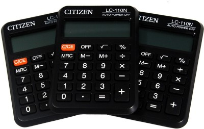 CITIZEN  Pack of 3  LC-110N Stealodeal  Pack of 3  LC-110N Basic Calculator(8 Digit)