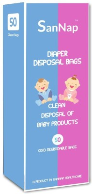 SanNap SanNap Baby Diaper Disposal Bags  50 Count  Baby Diaper Disposal Bag White SanNap Diaper Bags