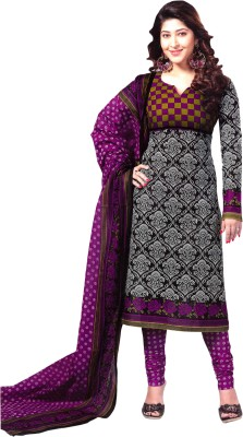 Reya Poly Crepe Paisley Salwar Suit Material(Unstitched)