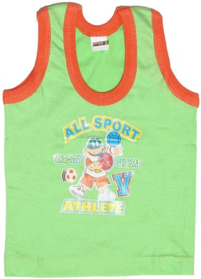 Babeezworld Vest For Boys Cotton(Green, Pack of 1)  available at flipkart for Rs.99