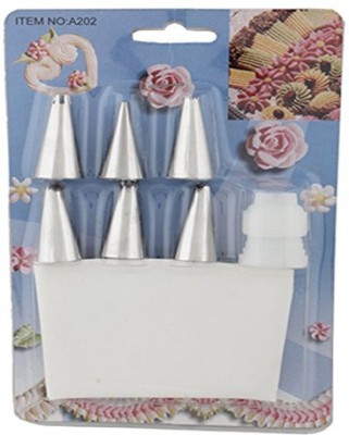 Jamboree Icing Bag Stainless Steel 6 Nozzle Icing Bag Stainless Steel 6 Nozzle White Kitchen Tool Set(White) at flipkart