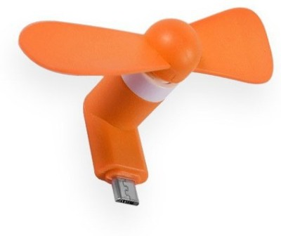 Avenue Mini Micro USB 2 in 1 Portable Fan For Android Smart Phone 01 USB Fan Orange Avenue Mobile Accessories