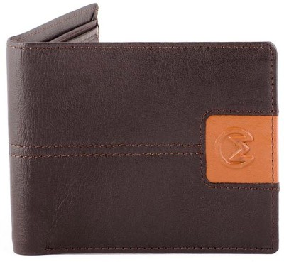 Must Not Just Leather Men Tan Genuine Leather Wallet(3 Card Slots)  available at flipkart for Rs.600