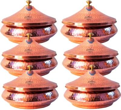 Indian Craft Villa Mughlai Biryani Cookware Set(Copper, Steel, 6 - Piece) at flipkart