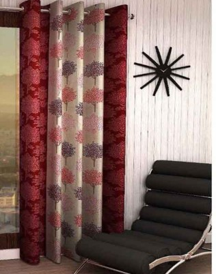 India Furnish Polyester Window Curtain 153 cm (4.9ft) Single Curtain(Printed Maroon)  available at flipkart for Rs.219