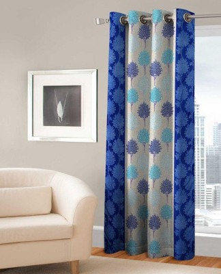 India Furnish Polyester 153 cm (4.9ft) Window Curtain Single Curtain(Printed Turquoise)  available at flipkart for Rs.219