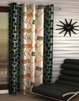 India Furnish Polyester Window Curtain 153 cm (4.9ft) Single Curtain(Printed Green)  available at flipkart for Rs.219