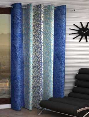 India Furnish Polyester Window Curtain 153 cm (4.9ft) Single Curtain(Printed Blue)  available at flipkart for Rs.219