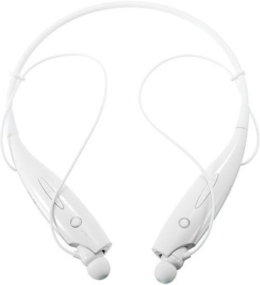 Avenue HBS 730 Wireless Bluetooth Headset With Mic Bluetooth Headphone(White, On the Ear)