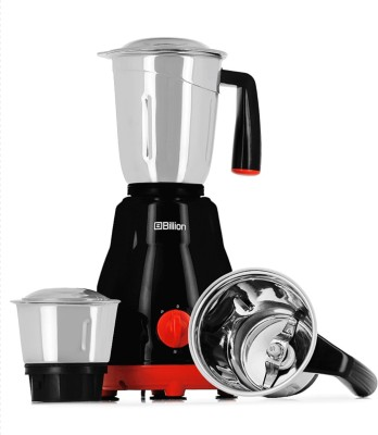 Billion Big Jar MG101 550 W Mixer Grinder(Black, 3 Jars)