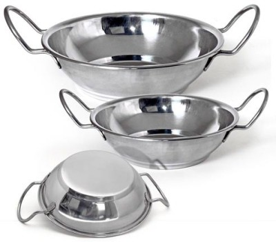 Little Kitchen Kadhai 1.5 L(Stainless Steel) at flipkart