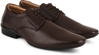 Provogue Genuine Leather Lace Up(Brown) at flipkart