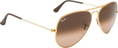 Ray-Ban Aviator Sunglasses(Brown) at flipkart