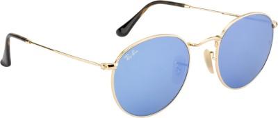 Ray-Ban Round Sunglasses(Blue) at flipkart