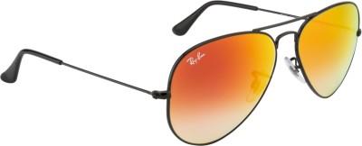 Ray-Ban Aviator Sunglasses(Red) at flipkart