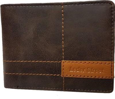 Leder Street Men Brown Artificial Leather Wallet(6 Card Slots) at flipkart